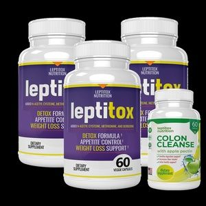 3 Bottle Leptitox (3x60 Count)  weight loss supple